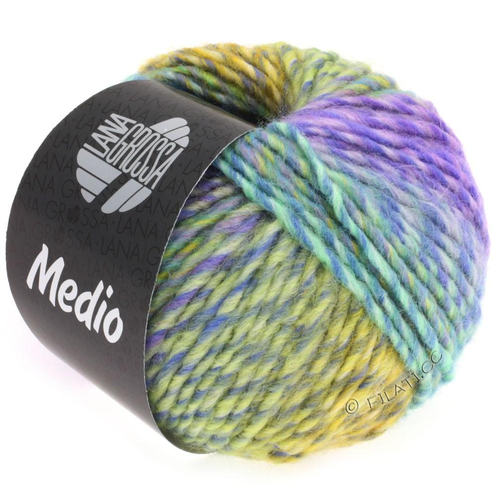 Lana Grossa MEDIO | 31-blue/turquoise/rose/lilac/yellow/gray green/petrol