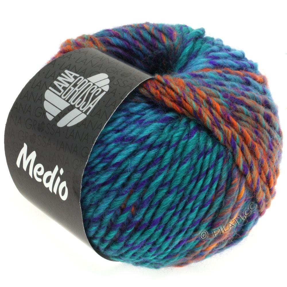 Lana Grossa MEDIO | 33-night blue/dark petrol/violet/light green/orange/blue