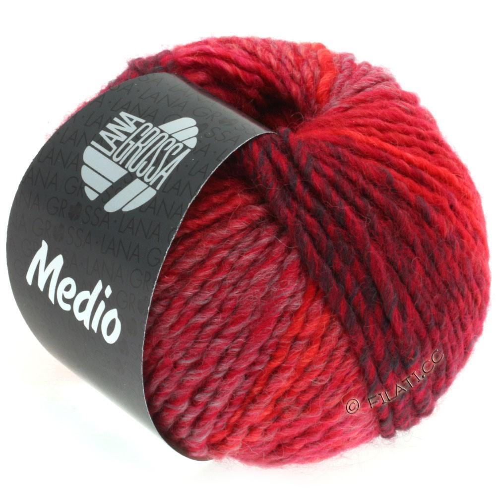 Lana Grossa MEDIO | 34-pink/cyclamen/red/burgundy/lilac