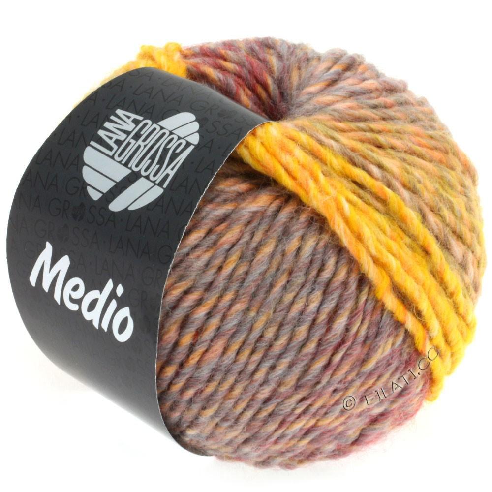 Lana Grossa MEDIO | 35-yellow/gray/rose/red/dark gray/natural