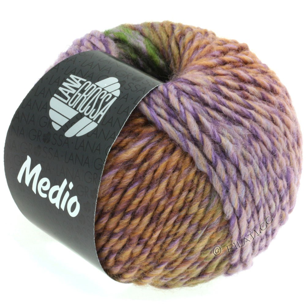 Lana Grossa MEDIO | 36-purple gray/rose/dark green/blue violet/lilac