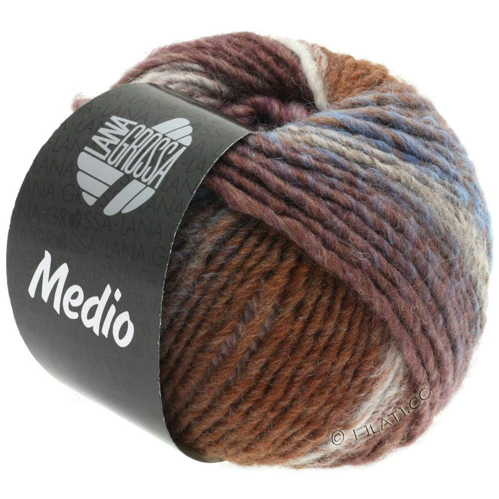 Lana Grossa MEDIO | 37-taupe/rose/natural/gray brown/lilac