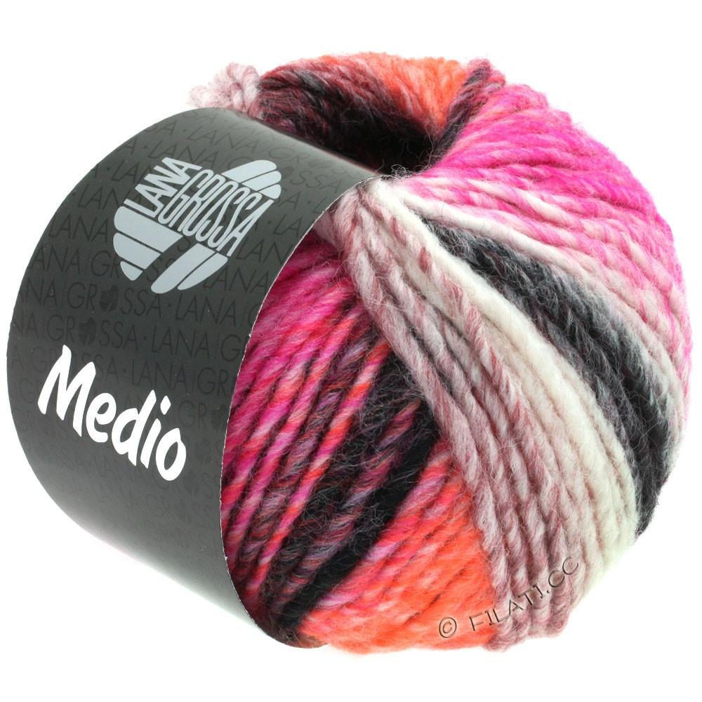 Lana Grossa MEDIO | 41-raspberry/peach/dark red/light gray/anthracite/natural