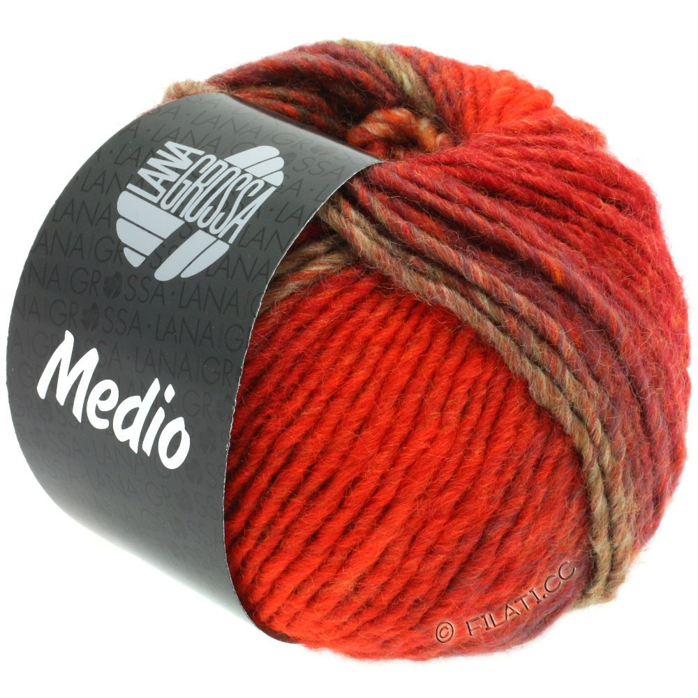 Lana Grossa MEDIO | 42-red/bordeaux/green gray/lilac/orange