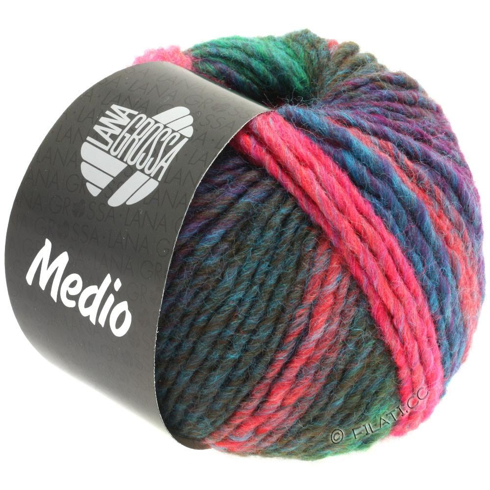 Lana Grossa MEDIO | 43-petrol/jade green/pink/olive/raspberry/light blue