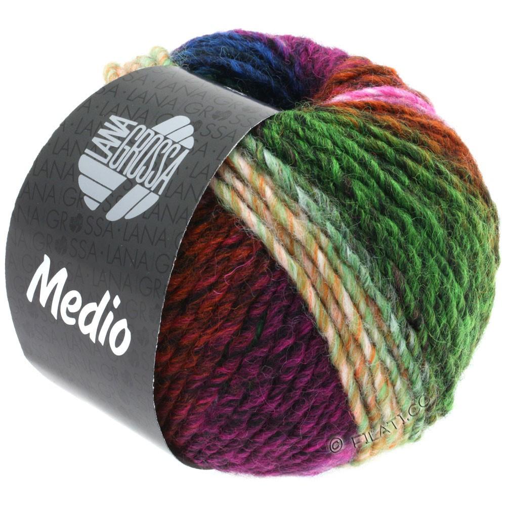 Lana Grossa MEDIO | 44-cyclamen/rose/fir/red brown/green/blue/orange/yellow/petrol