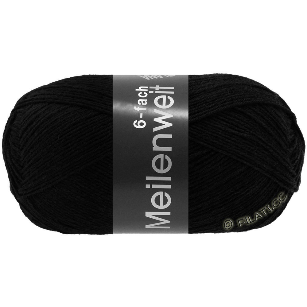 Lana Grossa MEILENWEIT 6-FACH 150g Uni | 8814-black
