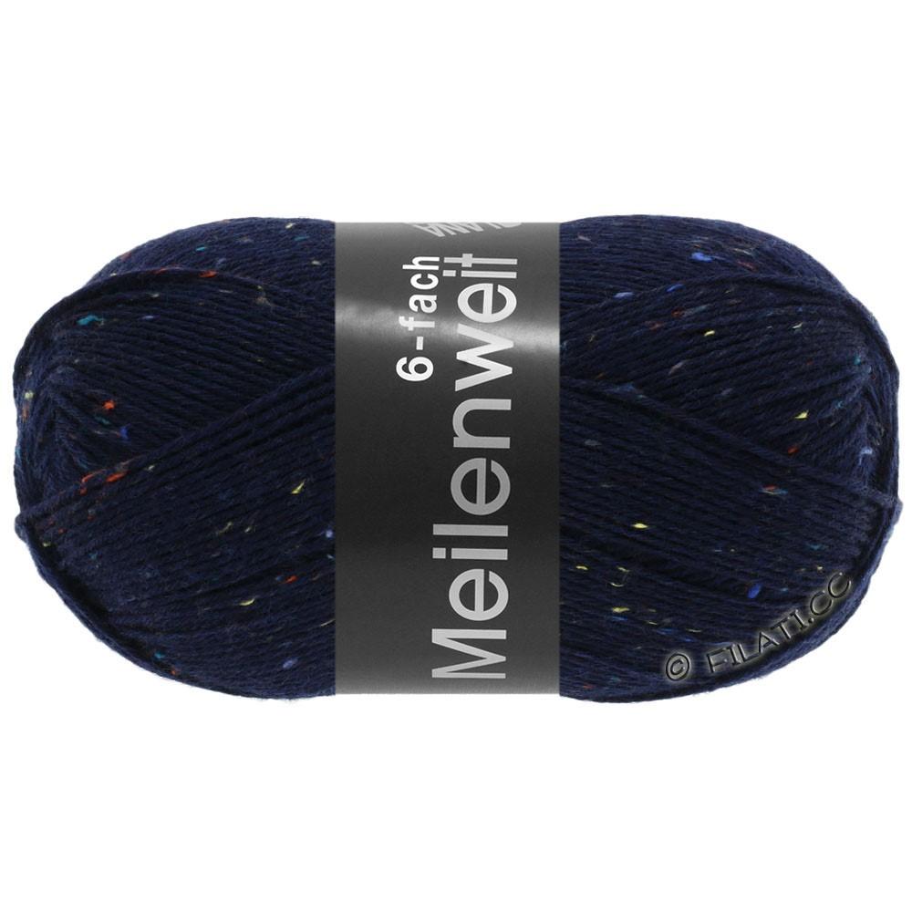 Lana Grossa MEILENWEIT 6-FACH 150g Print/Tweed | 8816-night blue mottled