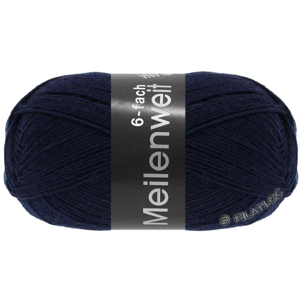 Lana Grossa MEILENWEIT 6-FACH 150g Uni | 8963-night blue