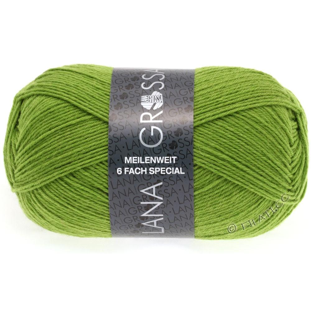 Lana Grossa MEILENWEIT 6-FACH 150g Uni/Tweed | 8969-yellow green