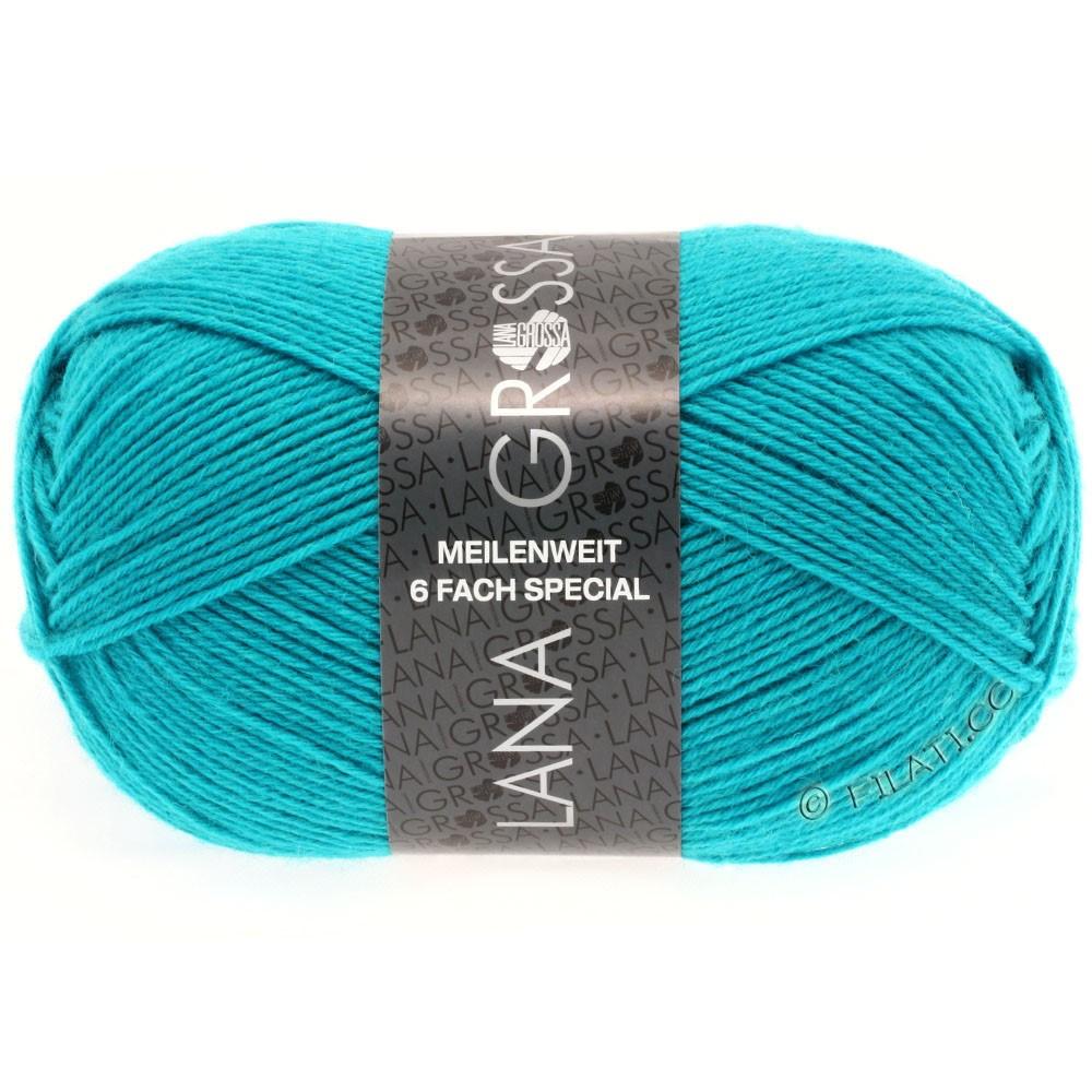 Lana Grossa MEILENWEIT 6-FACH 150g Uni/Tweed | 8970-turquoise