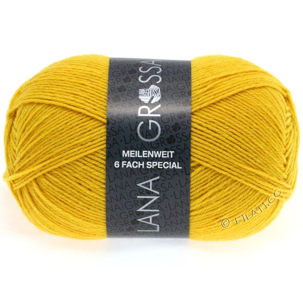 Lana Grossa MEILENWEIT 6-FACH 150g Uni/Tweed | 9043-yellow