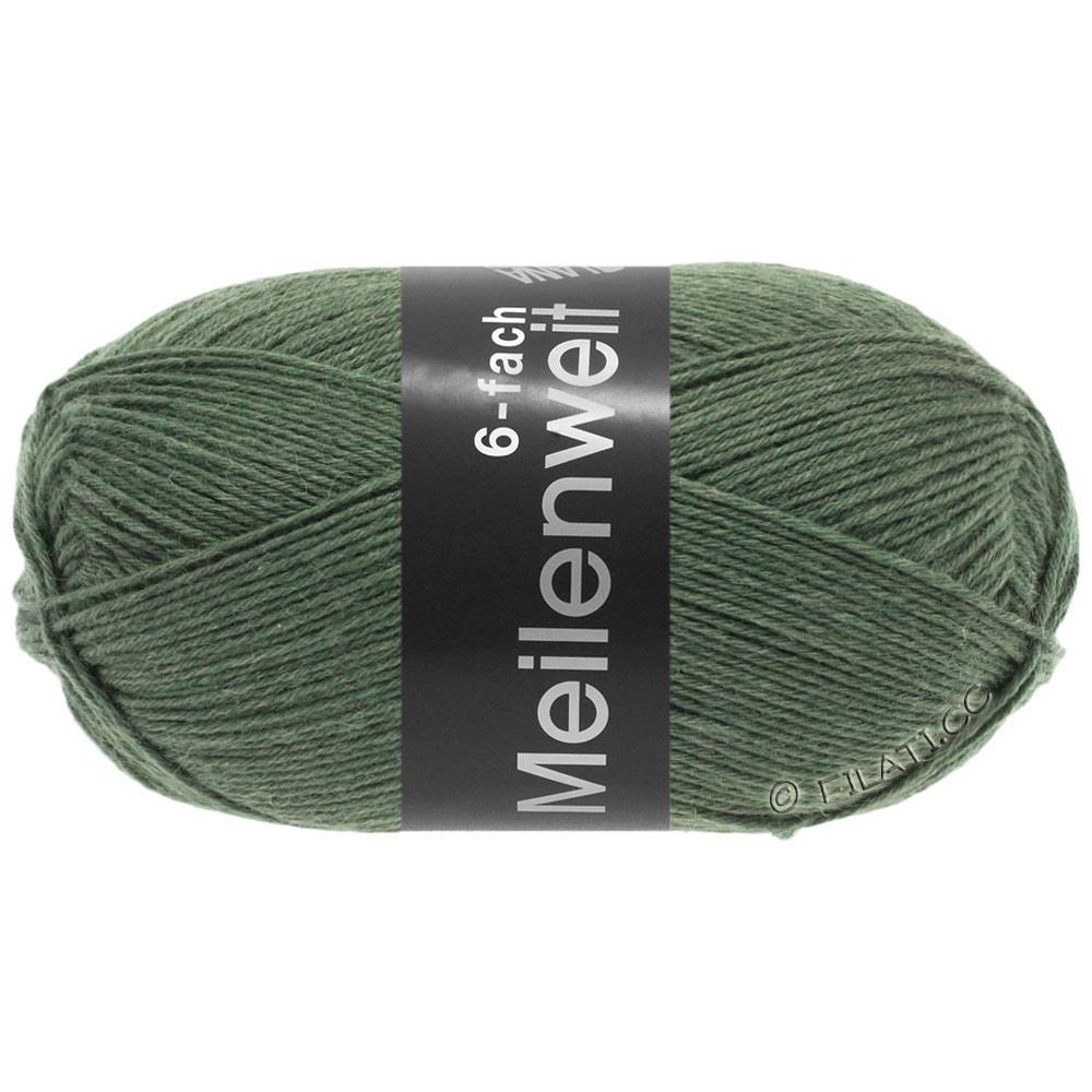 Lana Grossa MEILENWEIT 6-FACH 150g Uni/Tweed | 9221-olive