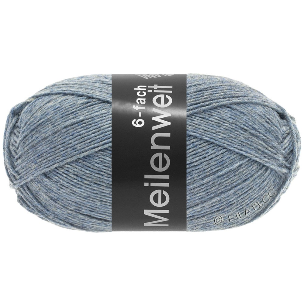 Lana Grossa MEILENWEIT 6-FACH 150g Uni | 9226-light blue mottled