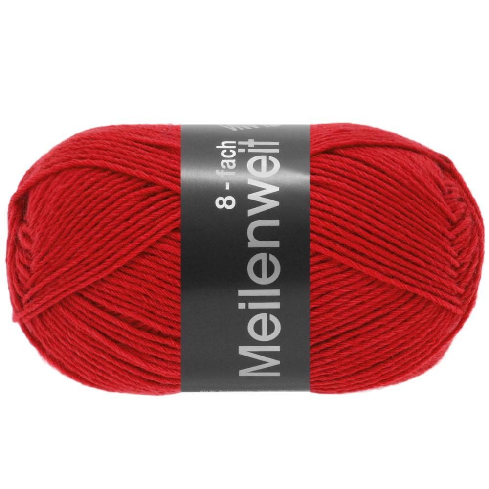 Lana Grossa MEILENWEIT 8-FACH 100g Uni | 9555-red