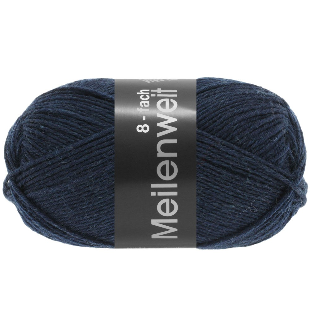 Lana Grossa MEILENWEIT 8-FACH 100g Uni | 9556-night blue