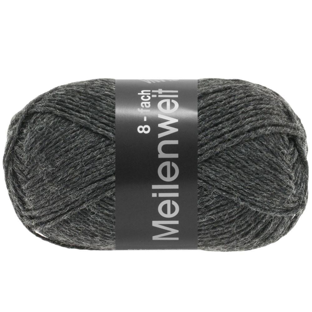 Lana Grossa MEILENWEIT 8-FACH 100g Uni | 9557-anthracite