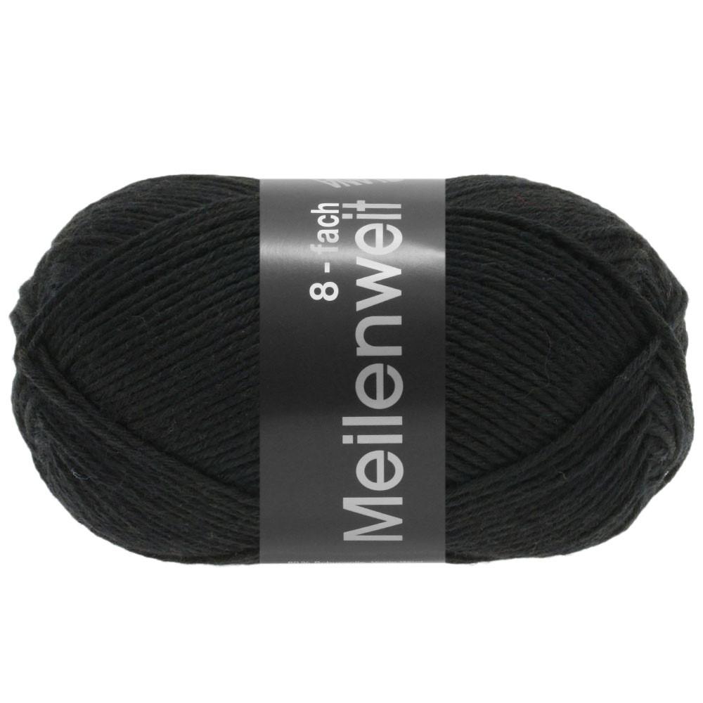 Lana Grossa MEILENWEIT 8-FACH 100g Uni | 9558-black