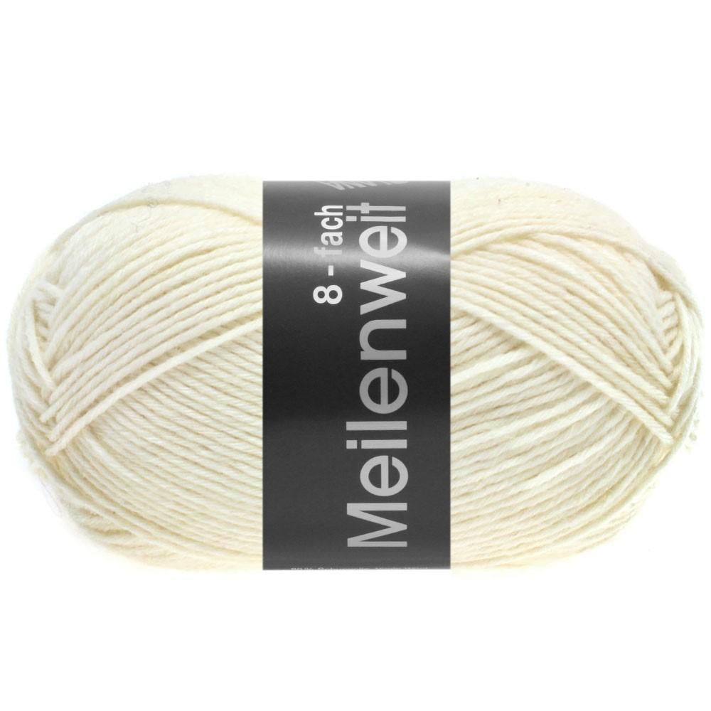 Lana Grossa MEILENWEIT 8-FACH 100g Uni | 9560-white