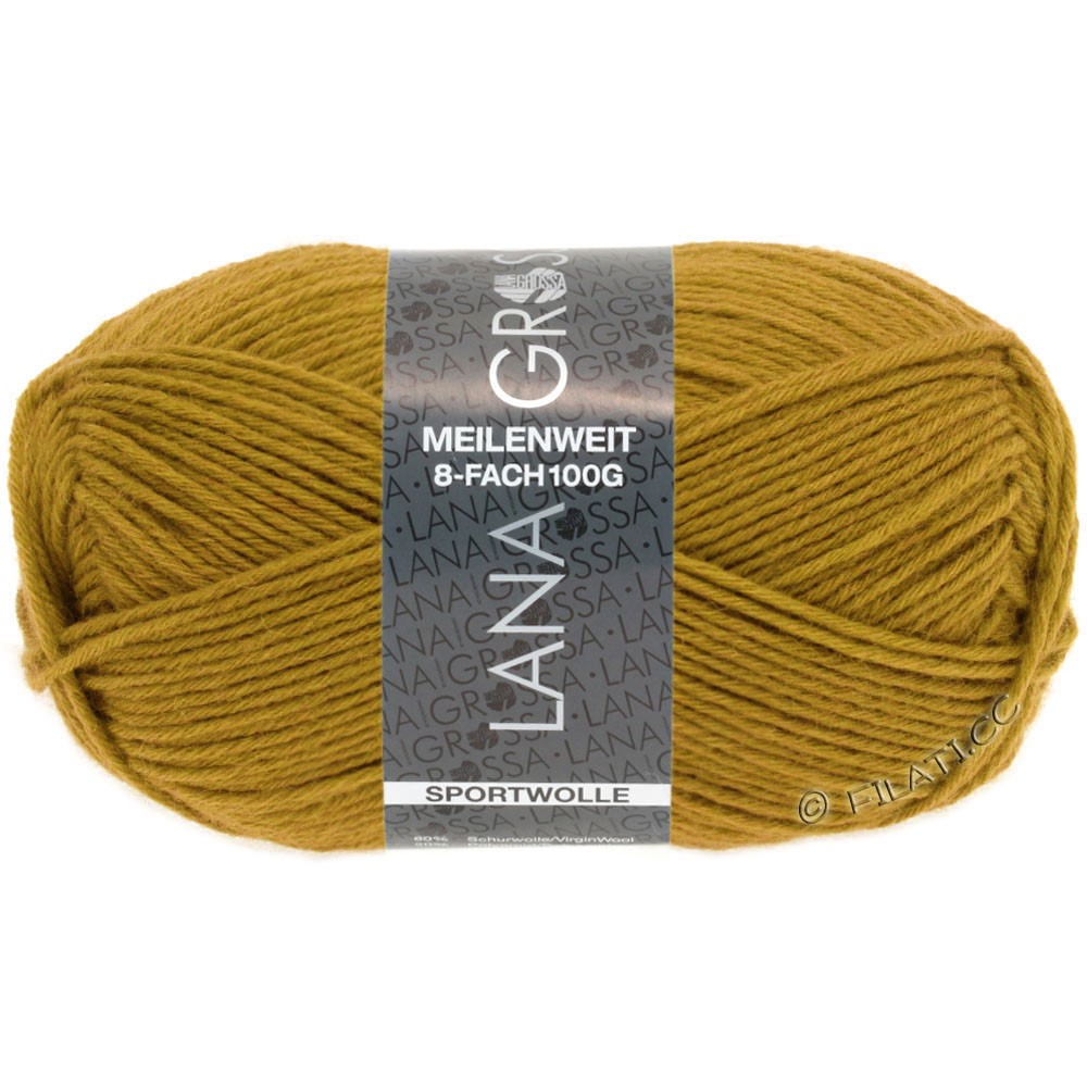 Lana Grossa MEILENWEIT 8-FACH 100g Uni | 9610-yellow