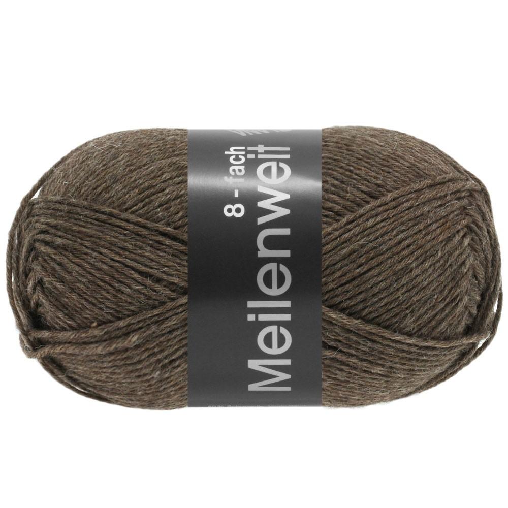 Lana Grossa MEILENWEIT 8-FACH 100g Uni | 9612-brown