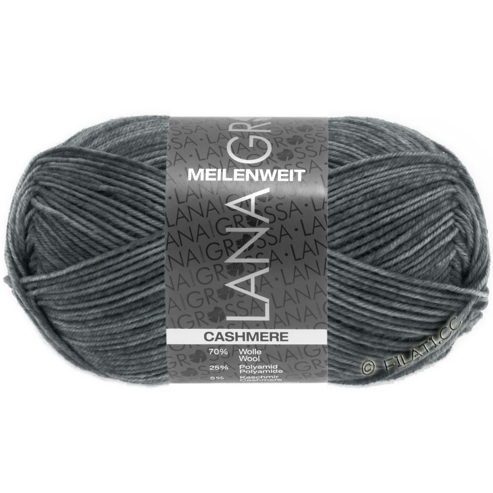 Lana Grossa MEILENWEIT 50g Cashmere | 07-dark gray mottled