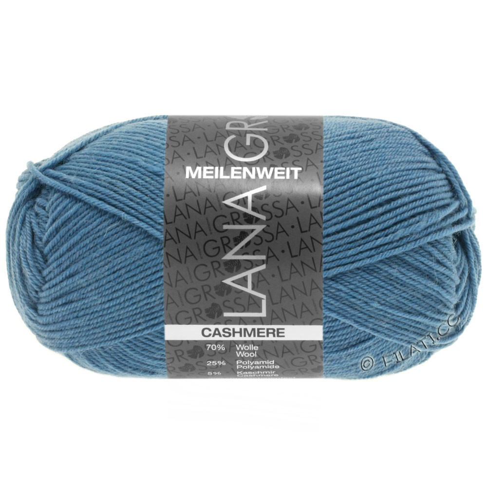 Lana Grossa MEILENWEIT 50g Cashmere | 18 -pigeon blue