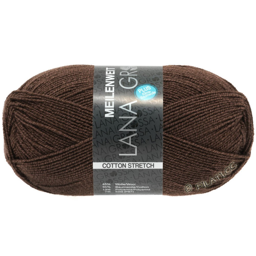 Lana Grossa MEILENWEIT 100g Cotton Stretch | 8056-mocha