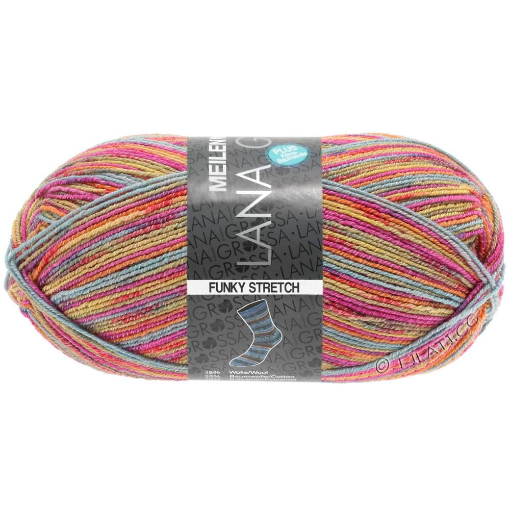 Lana Grossa MEILENWEIT 100g Cotton Stretch Print | 3103 - Funky Stretch-