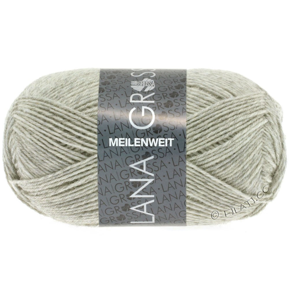 Lana Grossa MEILENWEIT 50g Uni | 1102-natural mottled