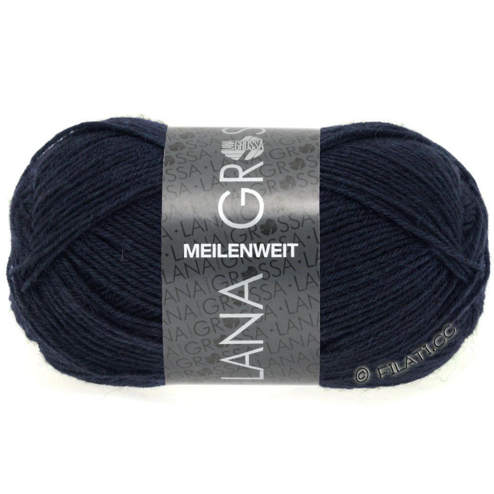 Lana Grossa MEILENWEIT 50g Uni | 1141-night blue