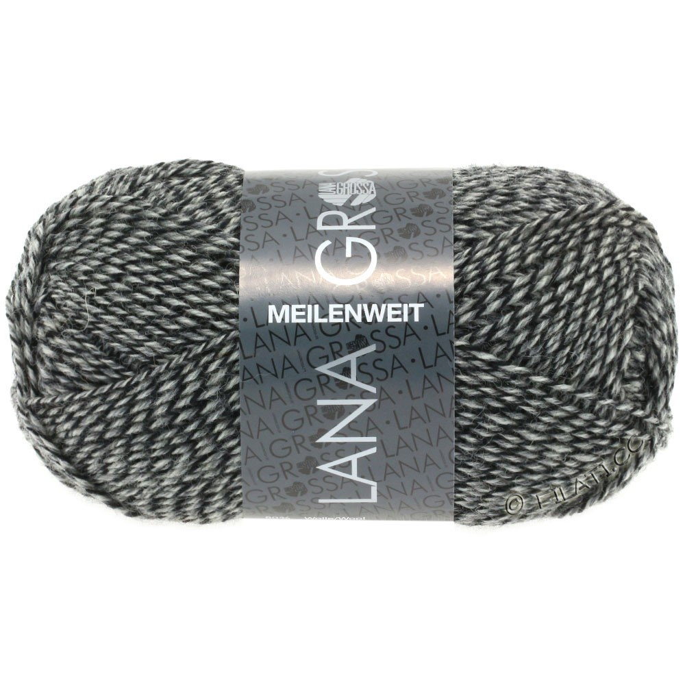 Lana Grossa MEILENWEIT 50g Uni | 1178-natural/gray/black