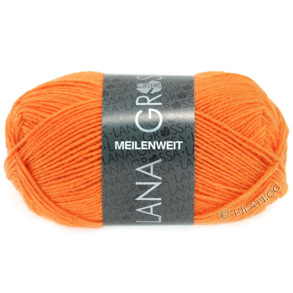 Lana Grossa MEILENWEIT 50g Uni | 1282-orange