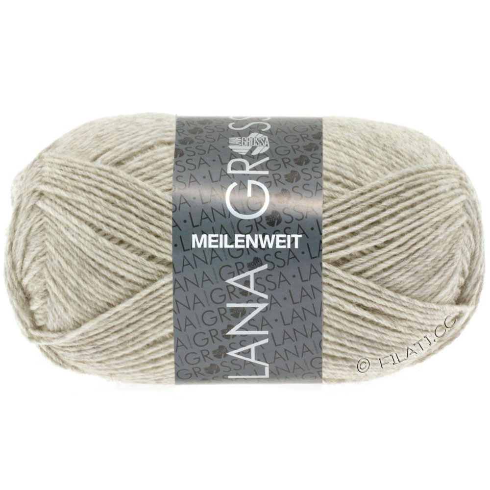 Lana Grossa MEILENWEIT 50g Uni | 1301-light beige mottled