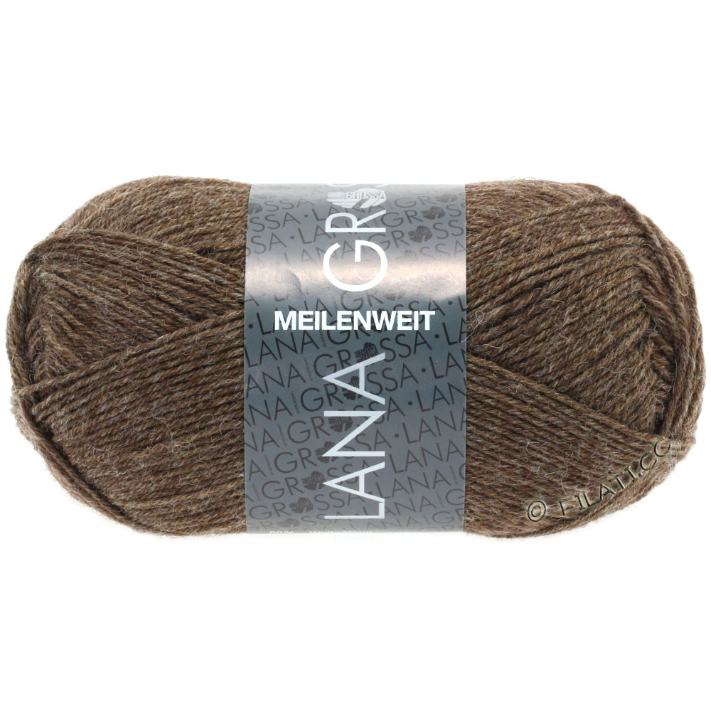 Lana Grossa MEILENWEIT 50g Uni | 1305-gray brown