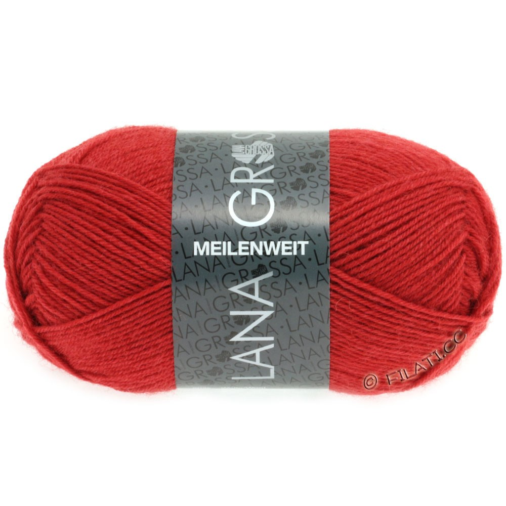 Lana Grossa MEILENWEIT 50g Uni | 1323-dark red