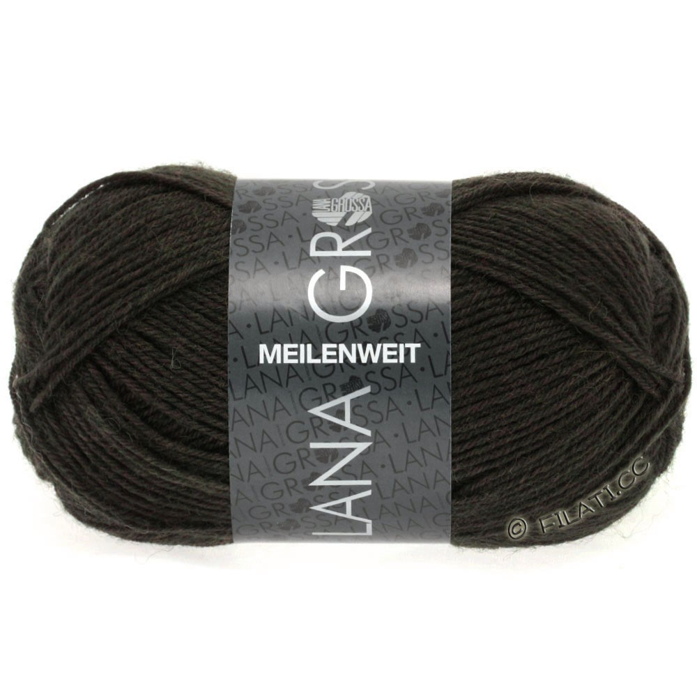 Lana Grossa MEILENWEIT 50g Uni | 1331-dark brown