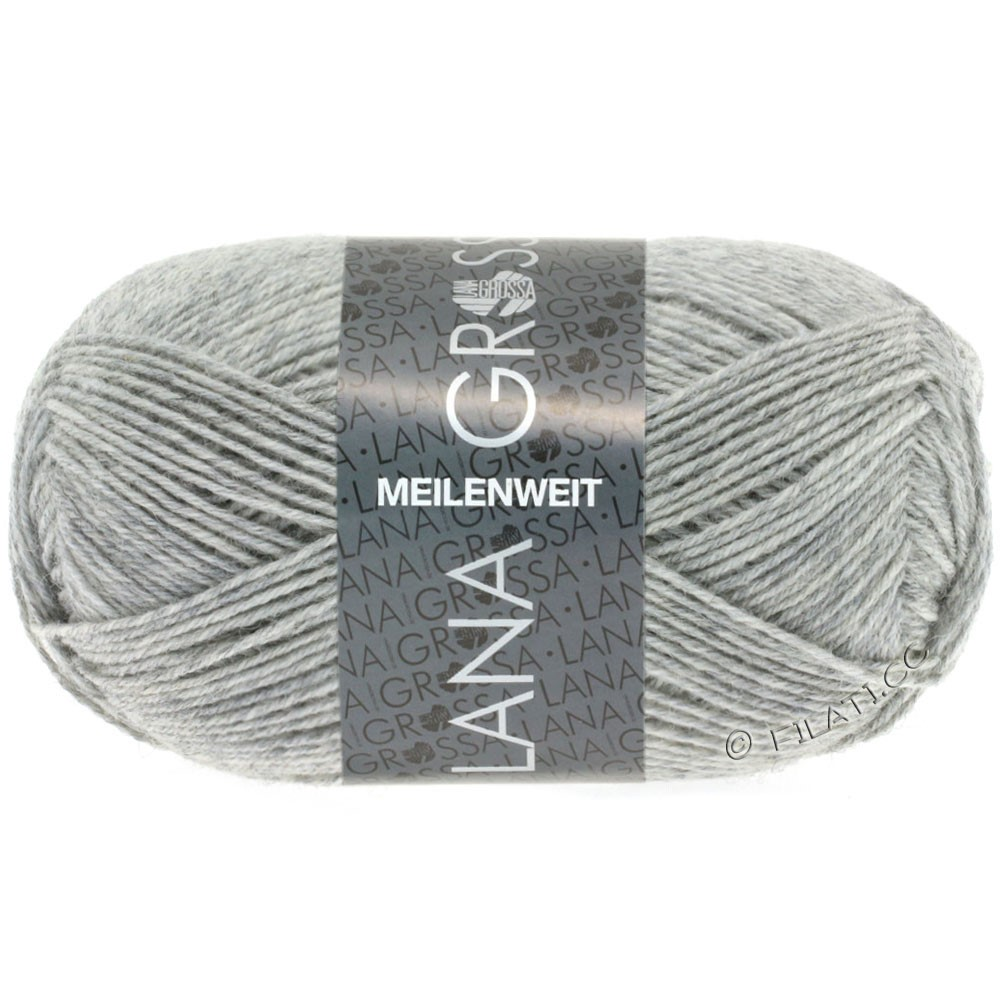 Lana Grossa MEILENWEIT 50g Uni | 1346-light gray mottled
