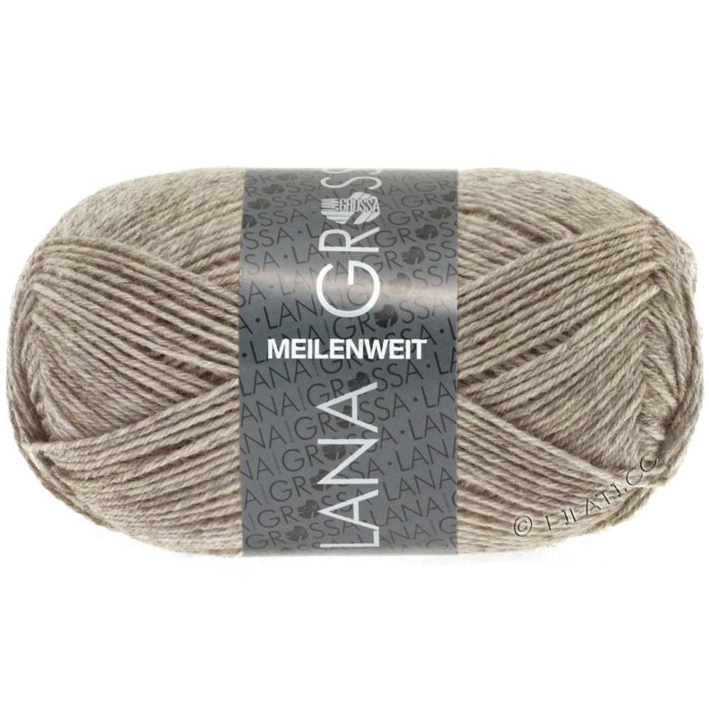 Lana Grossa MEILENWEIT 50g Uni | 1359-light brown mottled