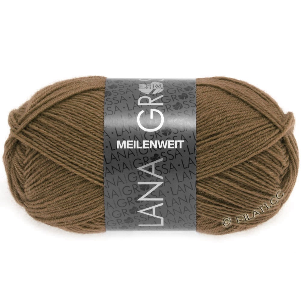 Lana Grossa MEILENWEIT 50g Uni | 1369-chocolate brown