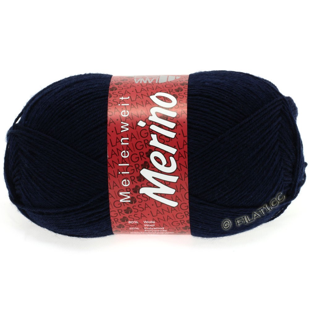 Lana Grossa MEILENWEIT 100g Merino Uni | 2011-midnight blue