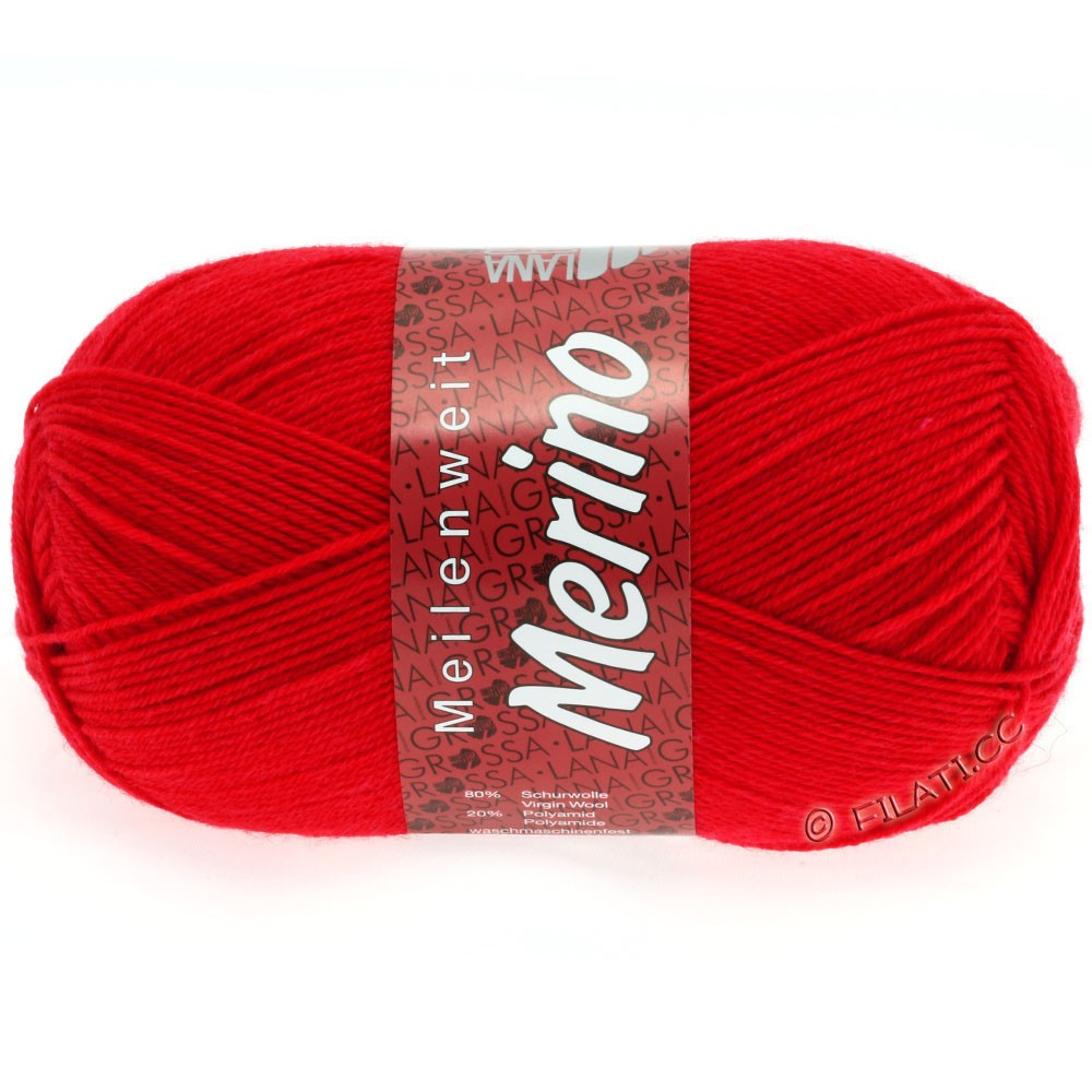 Lana Grossa MEILENWEIT 100g Merino Uni | 2029-fire red