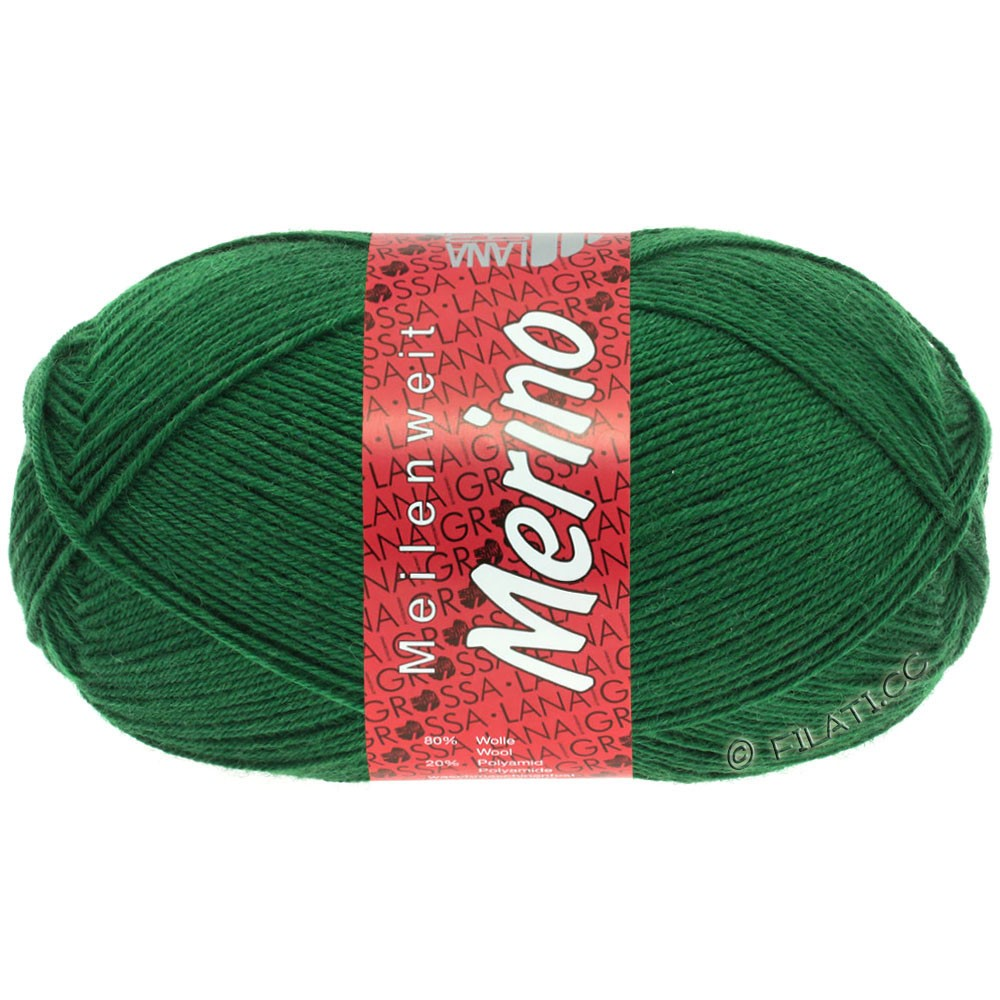 Lana Grossa MEILENWEIT 100g Merino Uni | 2045-bottle green