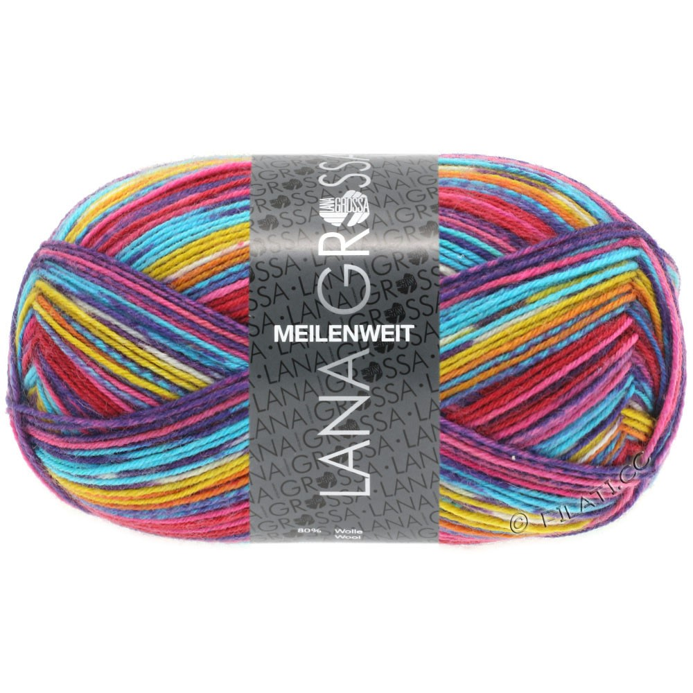 Lana Grossa MEILENWEIT 100g Print (finishing colors) | 2301 - India-