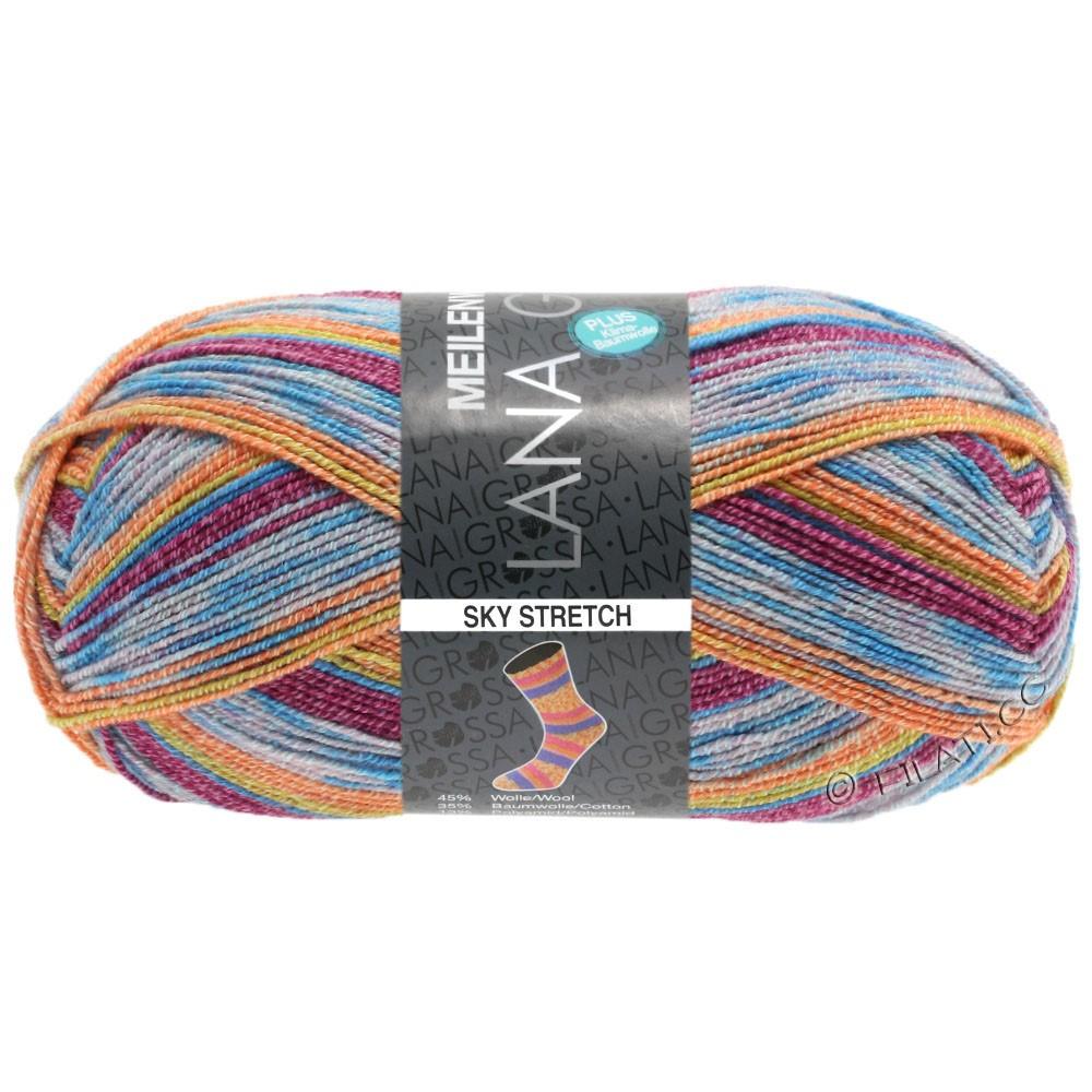 Lana Grossa MEILENWEIT 100g Cotton Stretch Print | 3142 - Sky Stretch-
