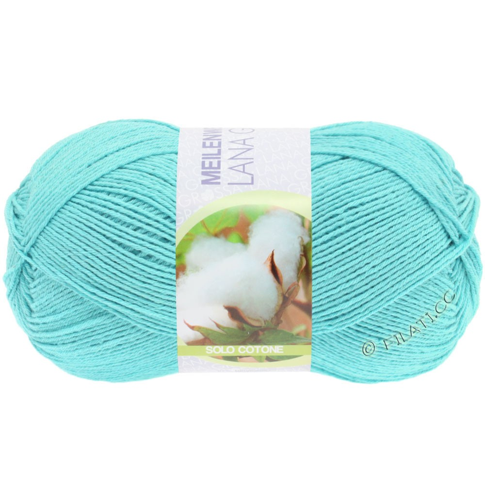 Lana Grossa MEILENWEIT 100g Solo Cotone Unito | 3453-light turquoise