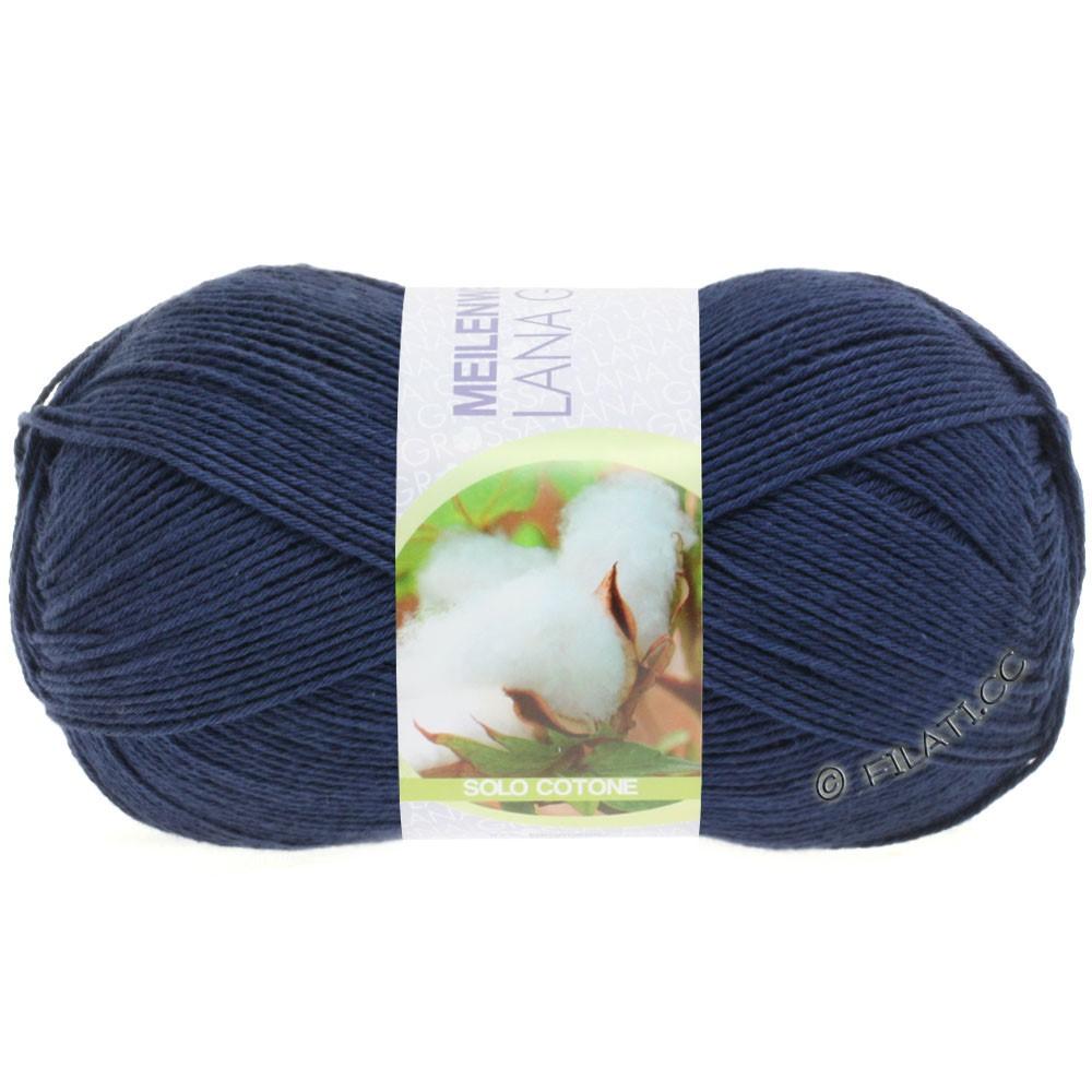Lana Grossa MEILENWEIT 100g Solo Cotone Unito | 3458-dark blue