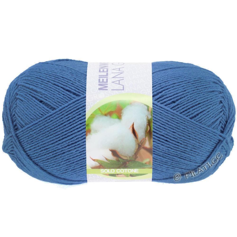 Lana Grossa MEILENWEIT 100g Solo Cotone Unito | 3467-blue