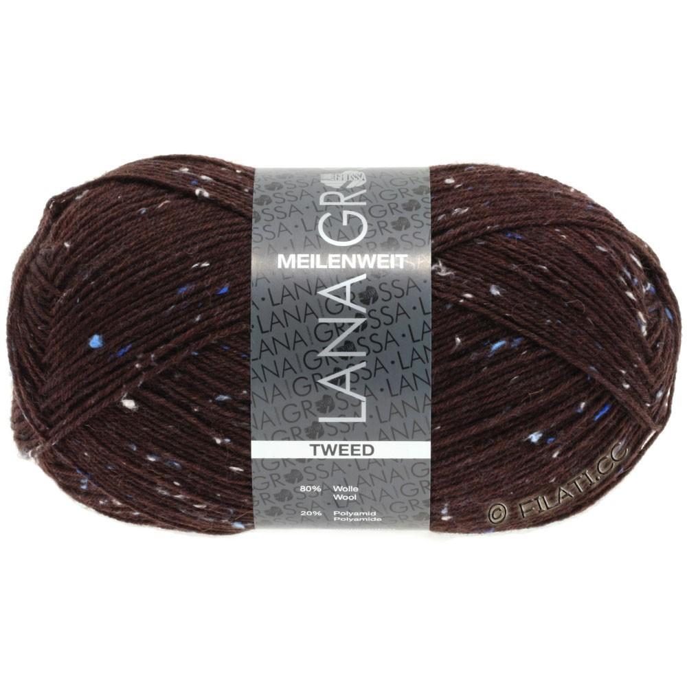 Lana Grossa MEILENWEIT 100g Tweed | 143-dark red