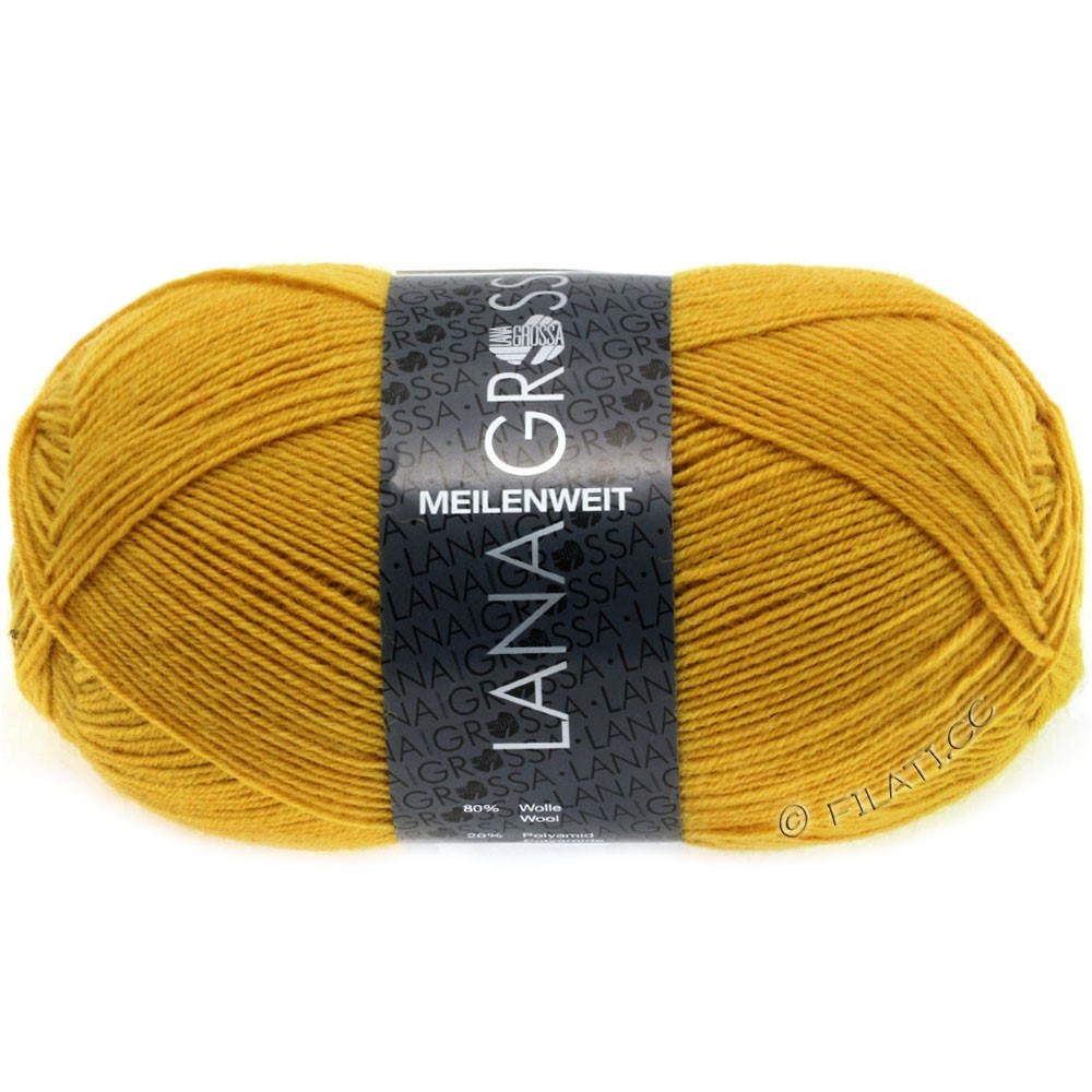 Lana Grossa MEILENWEIT 100g  Uni | 1351-dark yellow